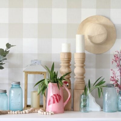 So Simple! Summer Mantel Decor