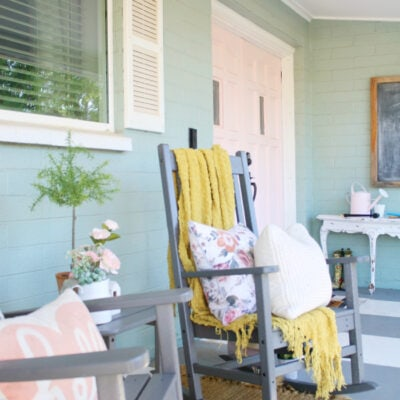 Add Outdoor Charm with this Darling Farmhouse Porch Furniture
