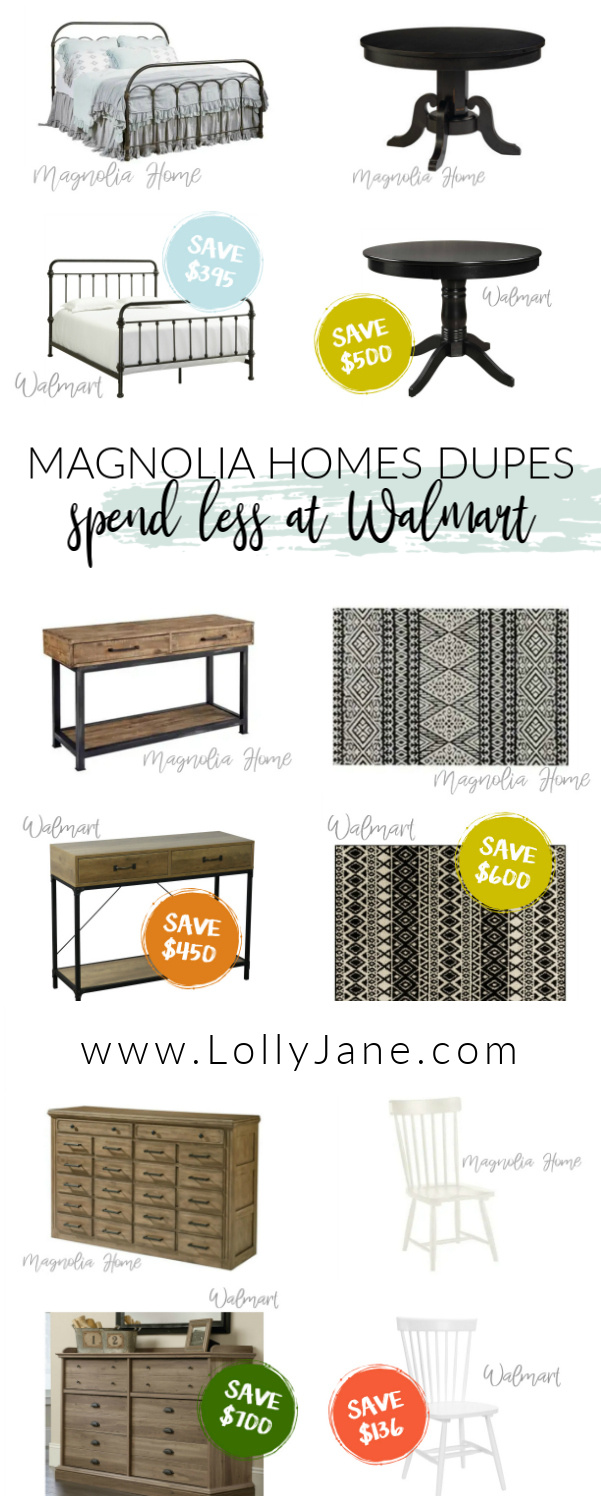 Love Magnolia Home decor but not the price? We've got tons of farmhouse dupes from Magnolia and you'll be surprised where these affordable finds lie! #farmhousedupe #fixerupper #magnoliastyle #magnoliahome #walmartfinds #farmhousestyle #farmhousedecor #magnoliadupe