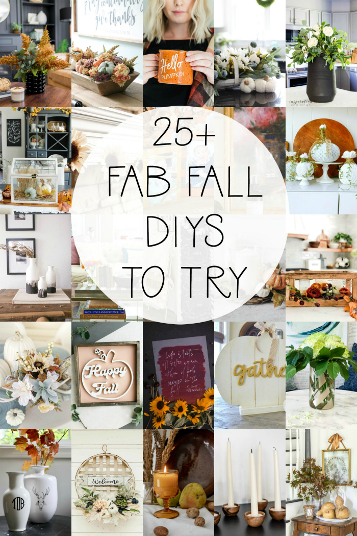 25 easy fall DIY projects to make this season! Loving these easy to make fall decorations using items around the house, so cute! #falldecor #diyfalldecor #falldecorations #fallideas