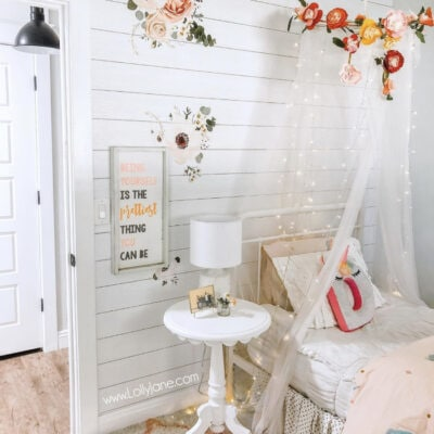DIY Floral Canopy with Fairy Lights