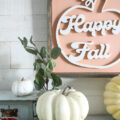 Love this sweet little handmade farmhouse-style FALL SIGN... hello fall! Make me! #diy #handmade #sign #falldecor