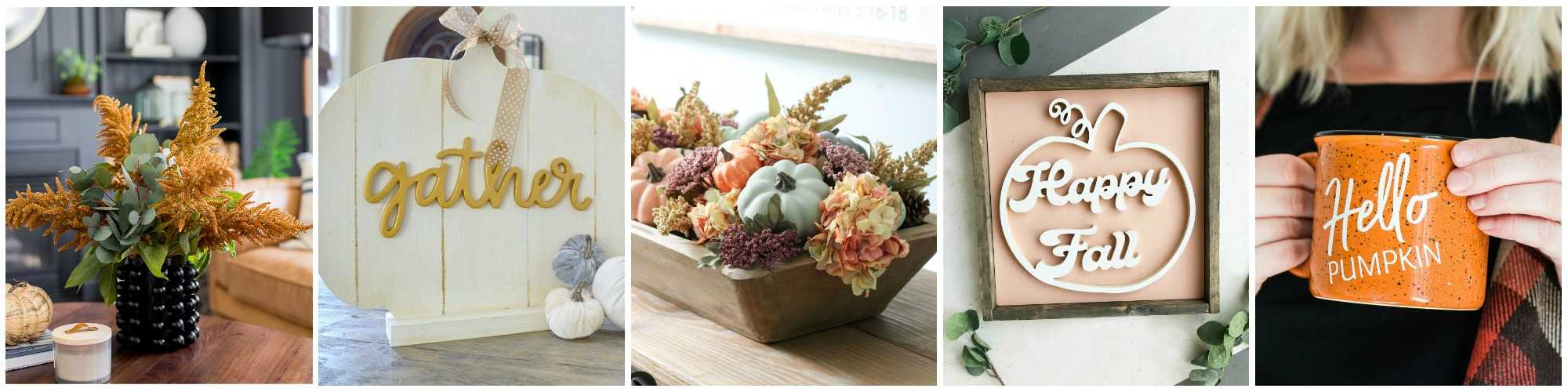 Loving these fall pumpkin ideas, such pretty fall decorations to make this season. Easy to follow fall decor ideas! #falldecor #fallroundup #diyfalldecor
