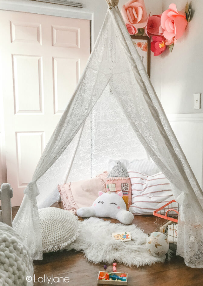 Create an EASY Children's Reading Nook with what you have on hand plus a few items from the handy Wish app!