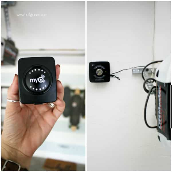 Check out the MyQ Garage Door Opener | Love this smart home garage door opener. Monitor your garage when you're not home, allow guest users and even package delivers with a few clicks of a button. #smarthome #garagedooropener #myq #smarthomeapp #amazon #amazonkey