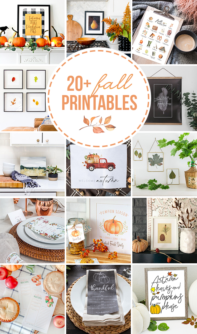 Gorgeous FREE printables for all of your fall decorating, tablescapes, or more! #fall #falldecorations #falldecor #freeprintable #printables #autumn