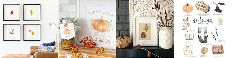 Free Fall Printable Ideas! #fall #freeprintables #fallprints #falldecor #falldecorations