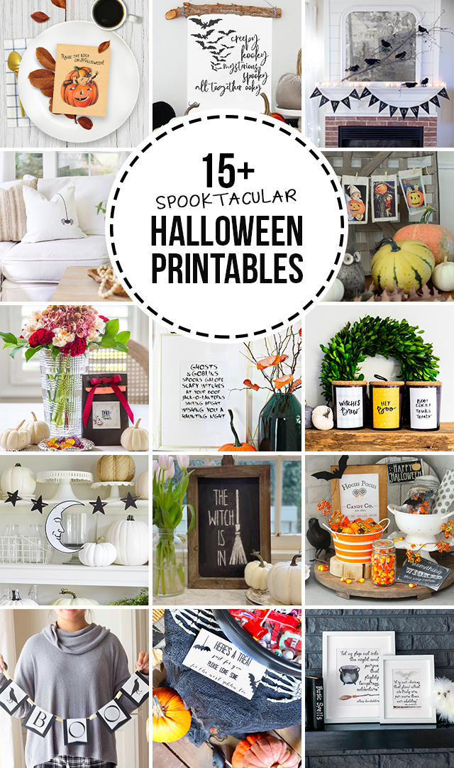 15+ Free Halloween Printables #halloween #halloweenprintable #freeprintable