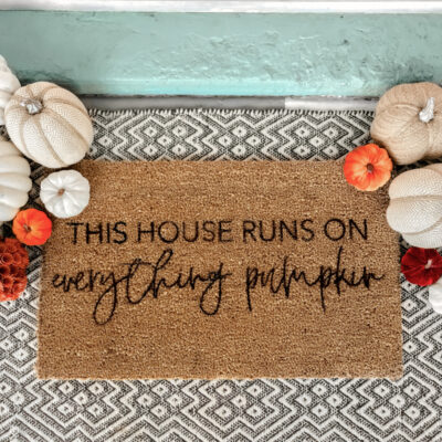DIY Fall Stenciled Doormat