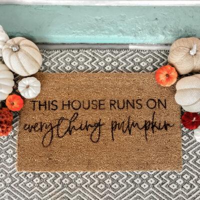 DIY Fall Stenciled Doormat
