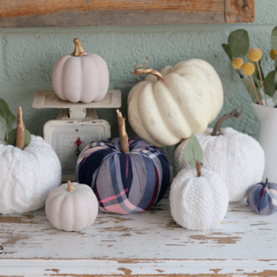 DIY Sweater Covered Pumpkins… no sew!