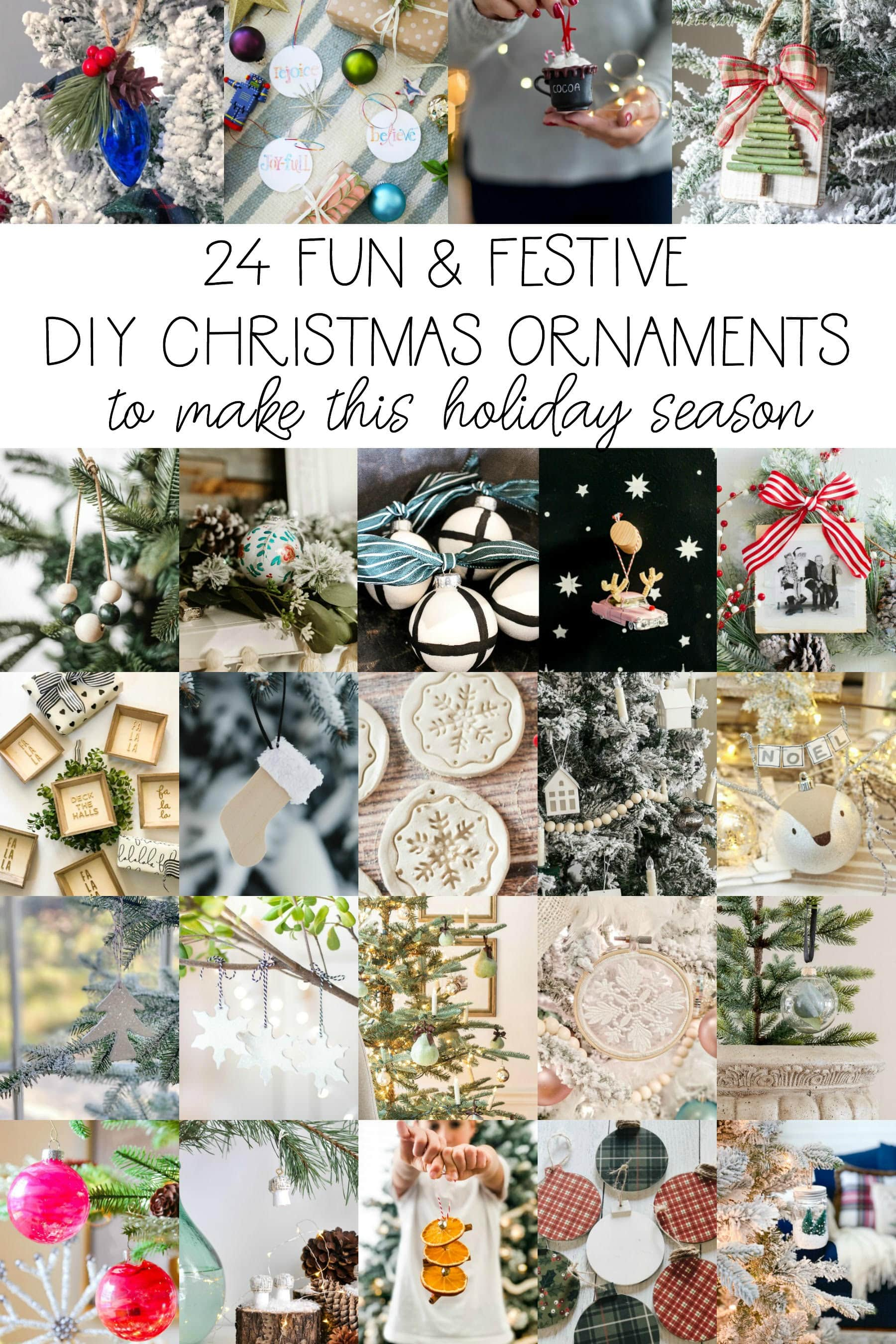 Gorgeous round up of 20+ Christmas Ornaments so easy YOU can DIY them!! #christmas #christmasdecor #christmasdecorations #christmasornament #ornament #DIYornament