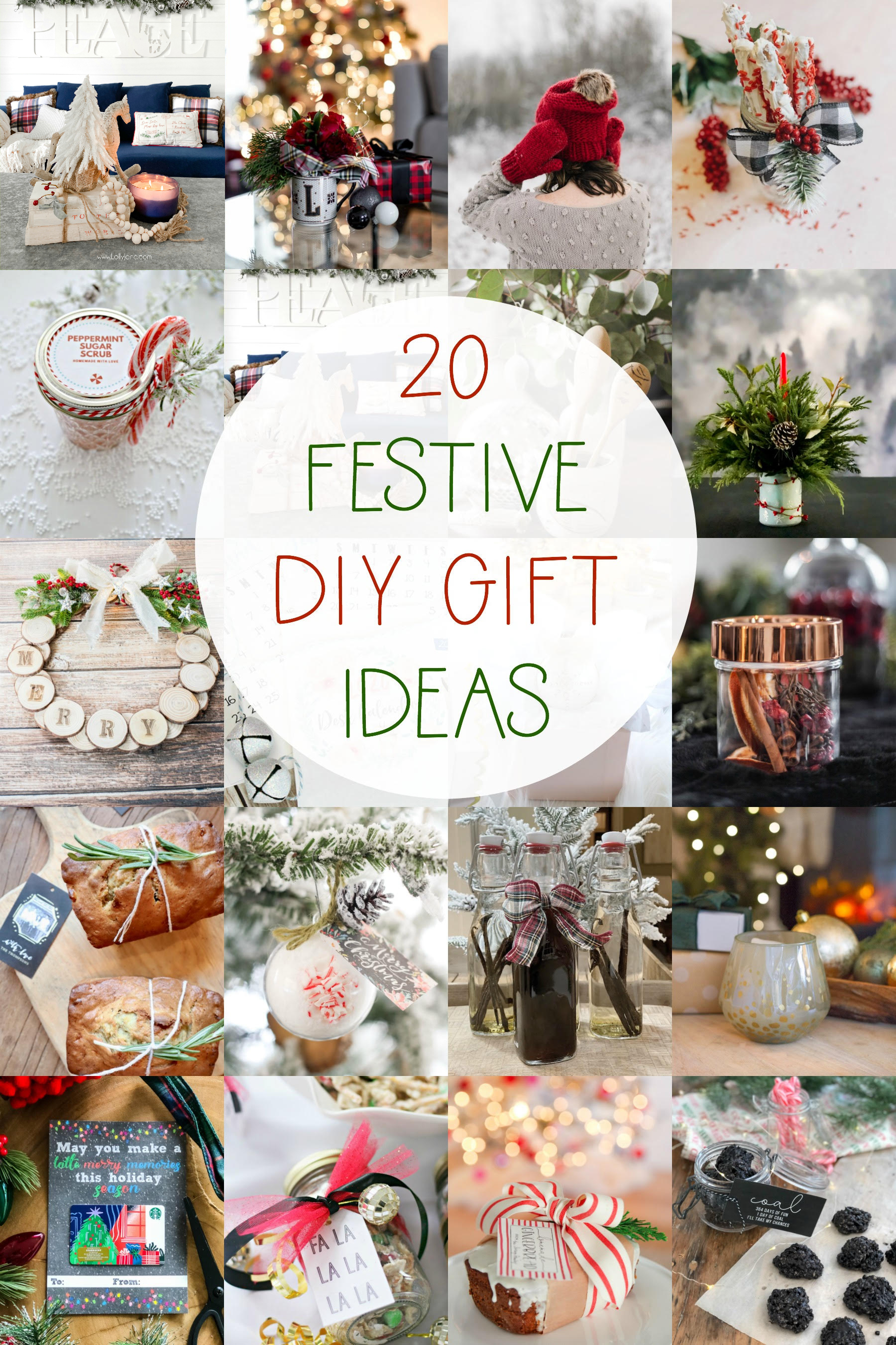 20 Festive DIY Gift Ideas! Perfect for Christmas gift exchanges, teacher gifts, neighbor gifts, and more! #diy #christmaspresent #christmasgift #handmadeChristmas