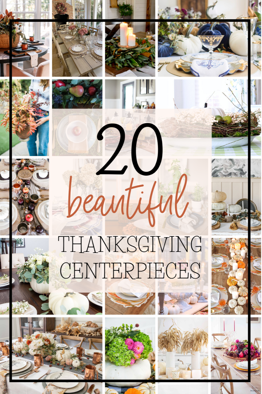 20 beautiful Thanksgiving centerpiece ideas! #thanksgivingdecor #thanksgivingdecorations #thanksgiving #tablescape #centerpiecedecor