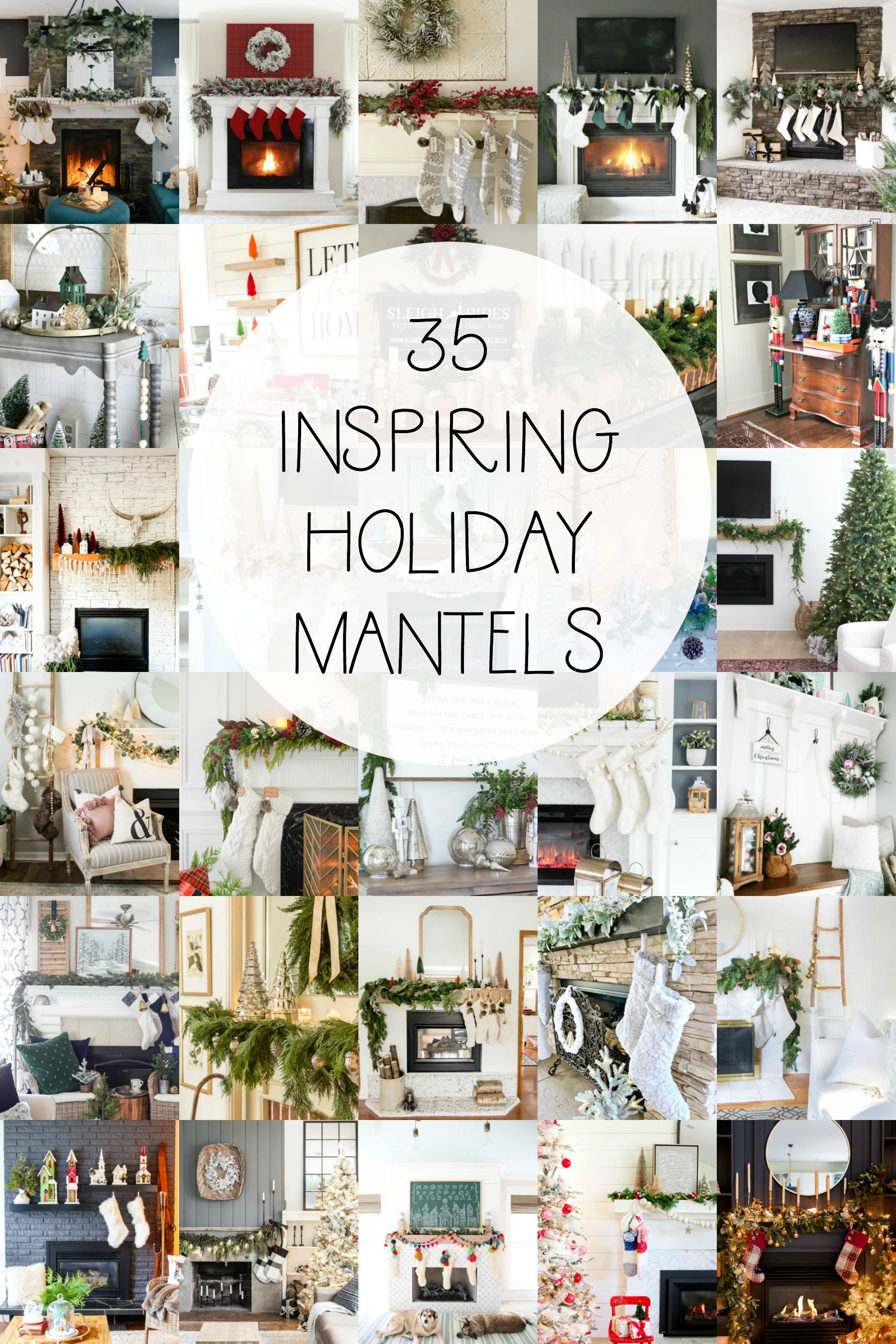 A collection of GORGEOUS Christmas Mantels to inspire YOU! #christmas #christmasmantel #christmasdecor #christmasdecoration