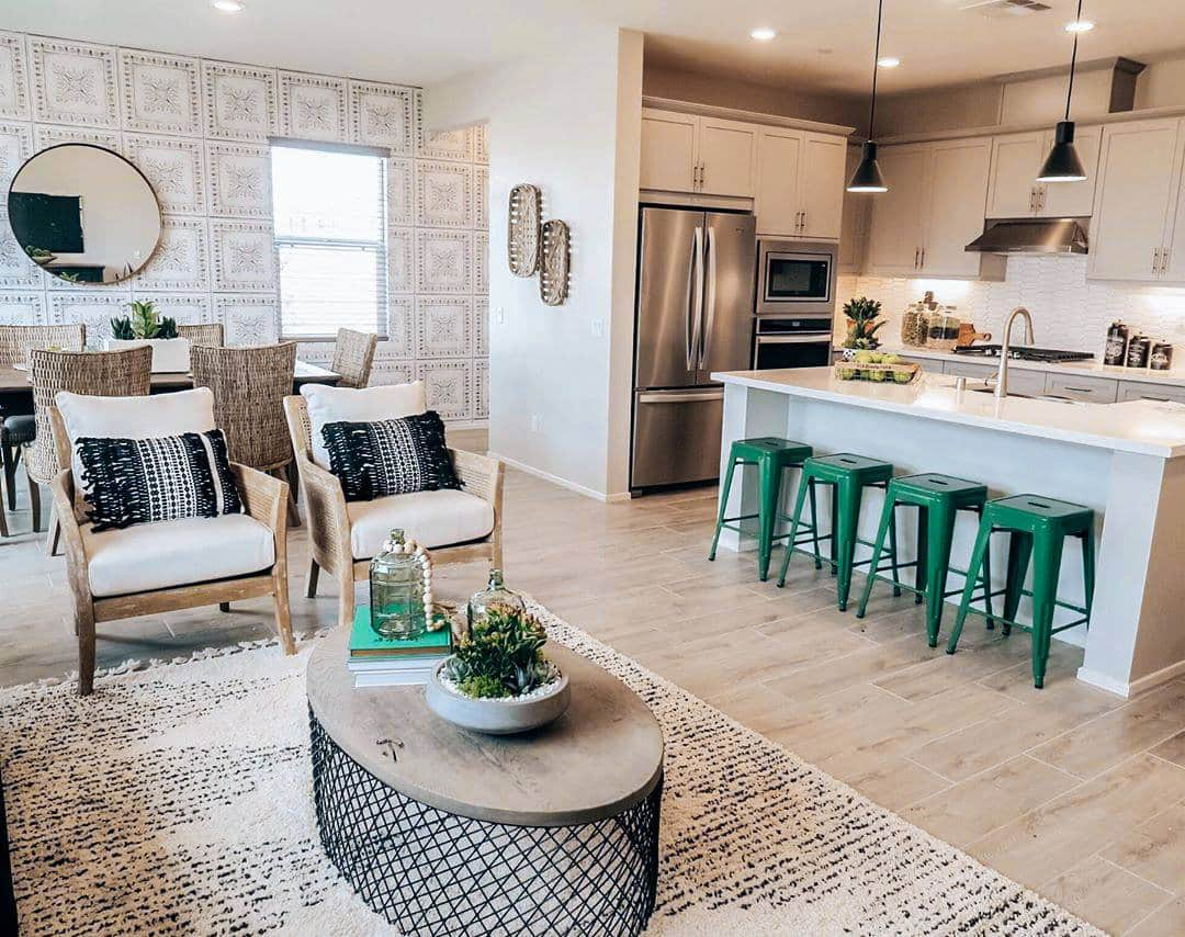 Gorgeous modern farmhouse new build by KB Home! #KBHome #ArizonaHomeBuilder #AZcommunity #neighborhood #newbuild #custombuilt #newhome