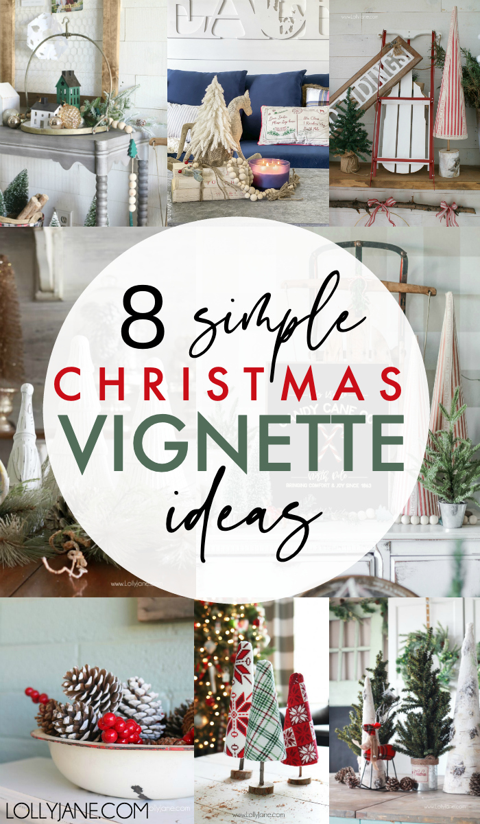 A Collection of Gorgeous and SIMPLE Christmas Vignette Ideas! #christmasdecor #christmasdecorations #christmasvignette #homedecorvignette