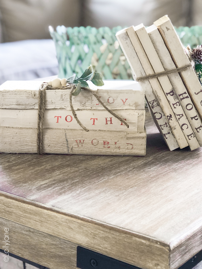Looking for the perfect Christmas gift? These DIY Stacked Deconstructed Books make the perfect gift for ANY style or personality! #diystampedbooks #stampedbooks #handmadegift #diygift #handmadegiftideas #diygiftideas #diystampedbooks
