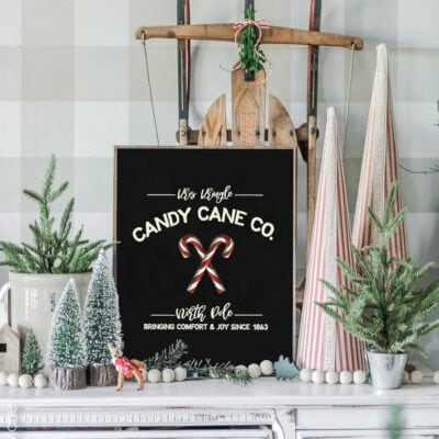 Candy Cane Co. Christmas Printable