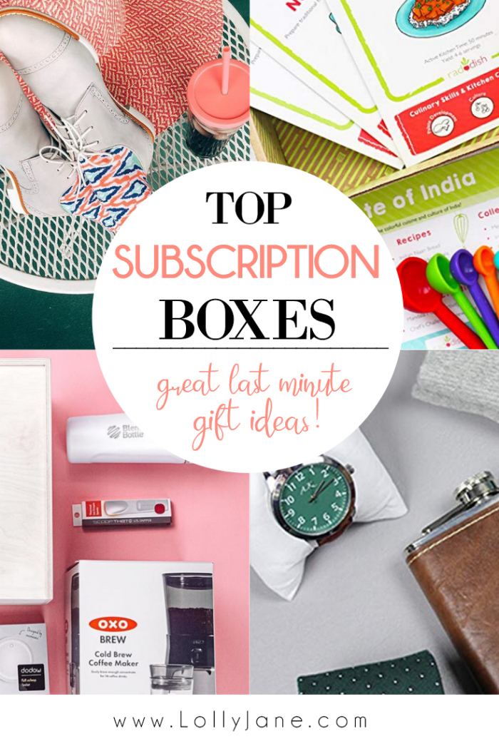 Whether you're looking for a subscription to keep up with trends, shop for the best gift or even treat yourself, we've found a handful of  the best subscription boxes to buy! #giftideas #lastminutegiftideas #easygiftidea #subscriptionboxideas #topsubscriptionboxes