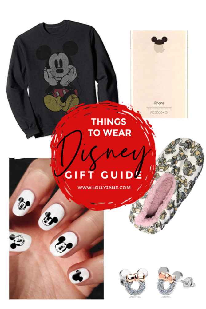 The ultimate Disney Gift Guide for things to wear! Lots of creative and unique Disney lover ideas! Find the perfect gift for the Disney obsessed in your life. #disneygiftguide #giftguide #disneyobsessed #disneygiftguideideas