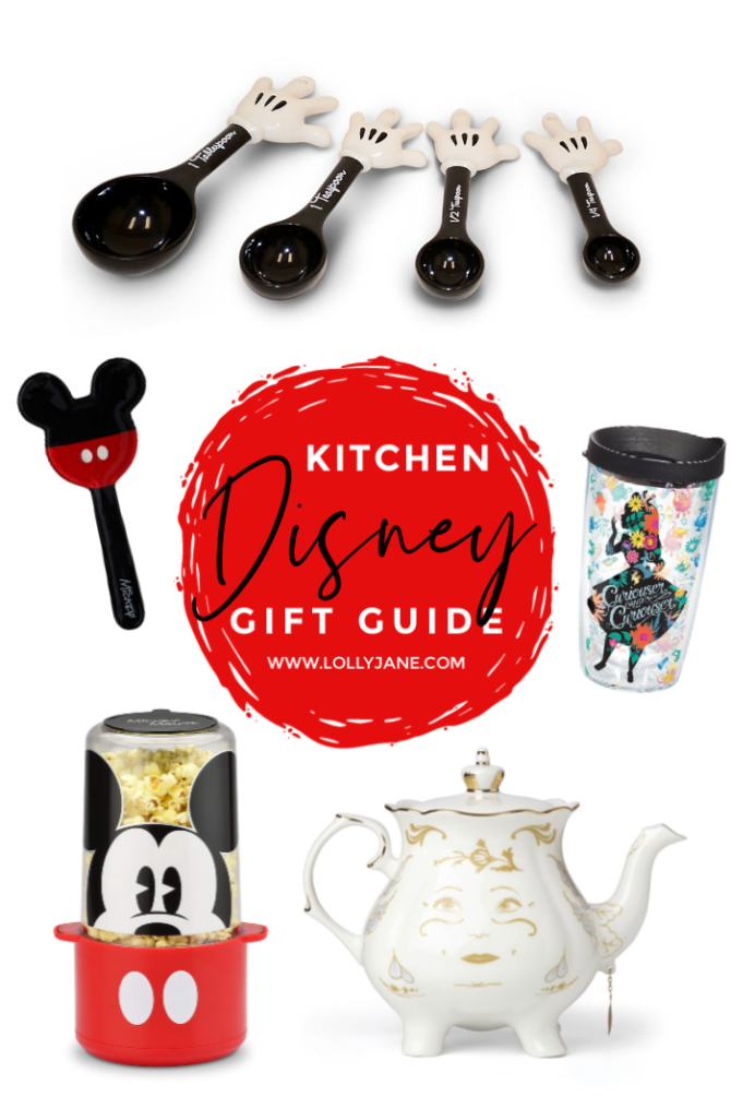 Who wouldn't love a Mrs Potts kettle? Check out all these amazing Disney gift guide ideas including Mickey Mouse measuring spoons to Mickey popcorn poppers and dozens more ideas. Perfect for the Disney lover in your life. #disneygiftguide #giftguidefordisneyfans #disneygiftideas #amazongiftguide