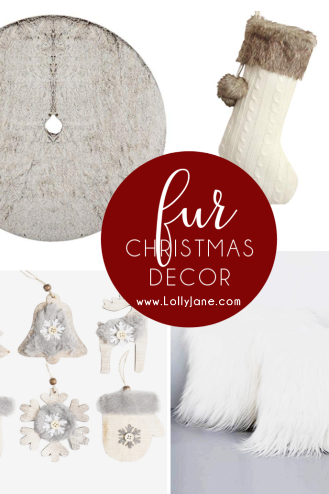 Cozy fur Christmas decorations to warm up your holiday season! Love these fur Christmas decor ideas to buy. #furchristmas #christmasfurideas #christmasfurdecor #cozychristmas