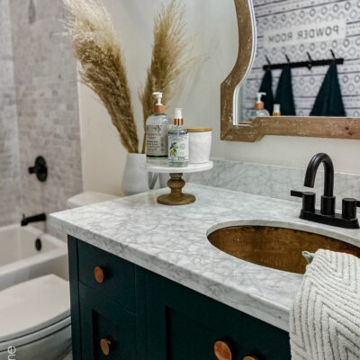 Small Modern Farmhouse Bathroom