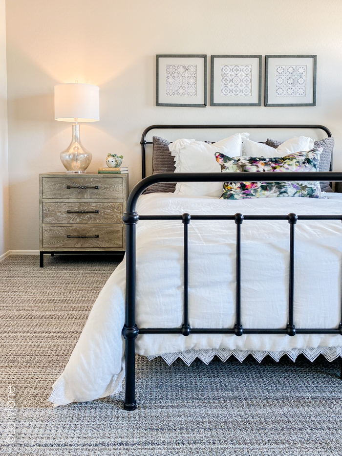 Beautiful bedroom in a new build, love the upgrades that you don't get with an older home! #newhome #modernfarmhouse #moderntile #bathroomtile #newbuild #kbhome