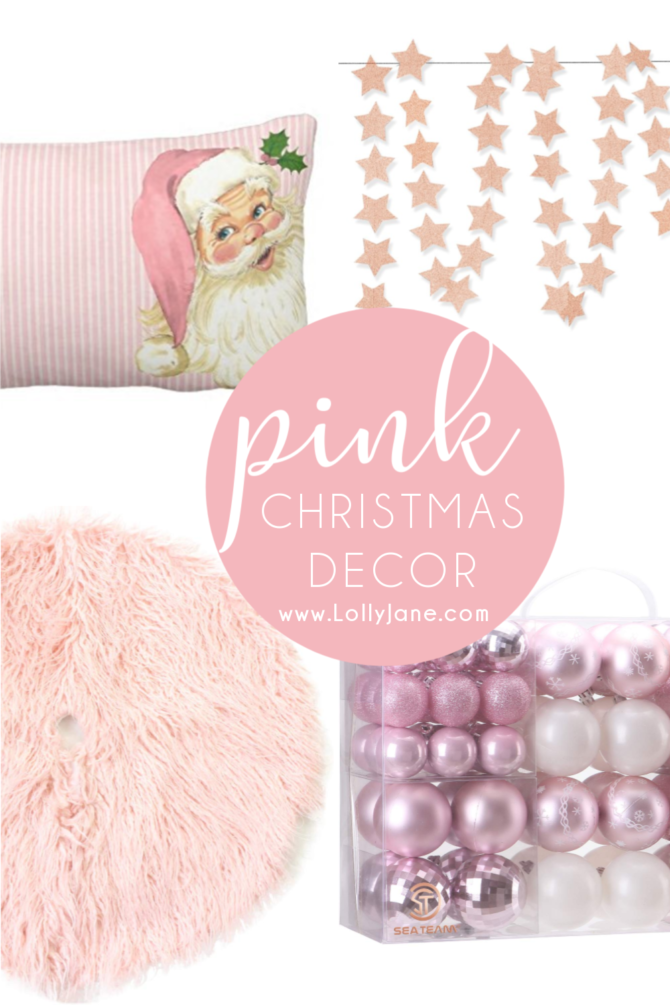 Pretty in pink Christmas decorations to try! If you're looking for elegant Christmas decor, these dreamy pink Christmas decorations are for you! #pinkchristmas #pinkchristmasdecor #pinkchristmasdecorations #christmasdecor #nontraditionalchristmasdecor