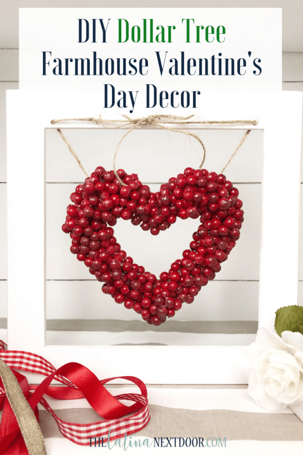 Make this DIY Dollar Store Valentines Day Wreath with a few supplies and a hot glue gun! Easy and affordable Valentines Day decor. #valentinesdaycraft #dollarstorecraft #valentinesdaywreath #easywreathdiy