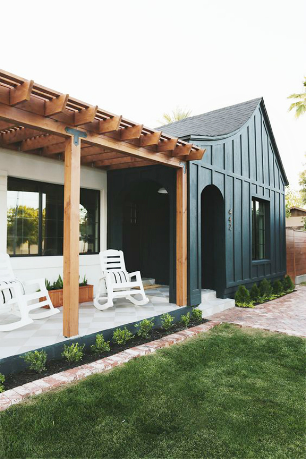 Trending Dark Exterior Paint Colors Lolly Jane