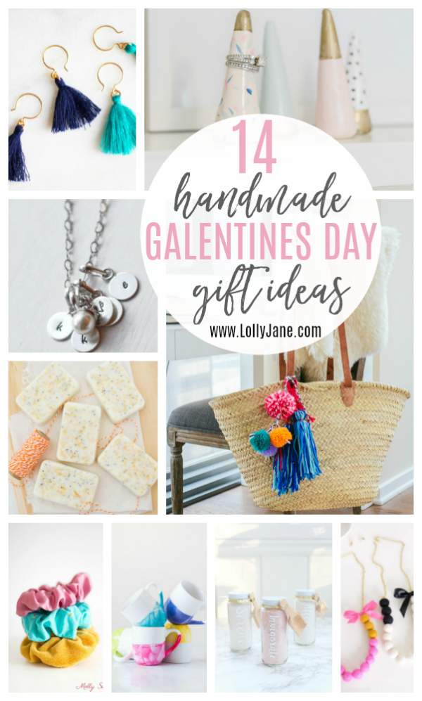14 handmade Galentines Day gift ideas that your gal pals will adore! Treat your friends right with gifts made from love! #handmadegifts #galentinesday #galentinesdaygiftideas