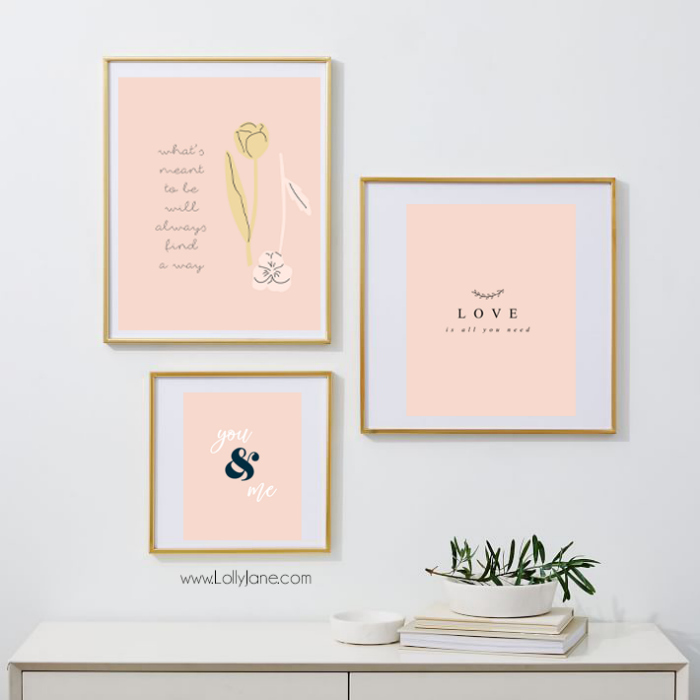 We're less than a month away from Valentine's Day but no worries, we've giving you free printable art to adorn your space to welcome all the lovey dovey cheer this almost-over-winter season!