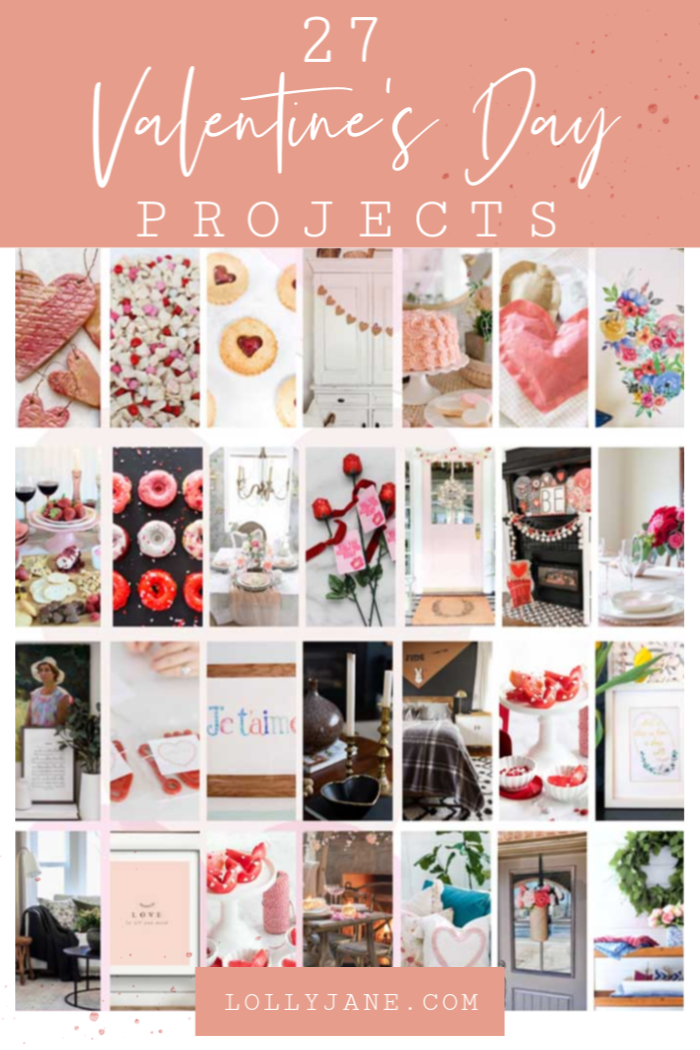 Check out these fresh 27 Valentine's Day project ideas! Lots of 2020 Valentines Day diy ideas to make to bring love into your home this season! #valentinesday #vday2020 #valentinesdayideas #diyvalentinesdaycrafts #valentinesdayprintable