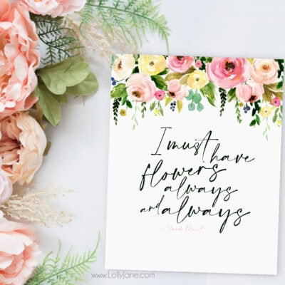 Free Spring Flowers Printable Art