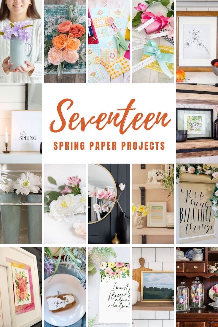 17 Spring Paper Projects sure to get YOU in the spring mood! #lollyjane #springart #printableart #springdecor