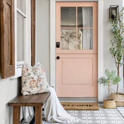 Front porch makeover with a gorgeous new Dutch door!