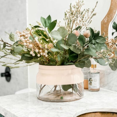 DIY Color Block Vase