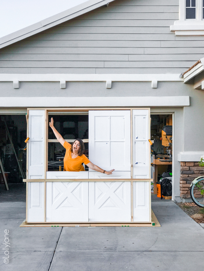 Double Dutch doors?! I cannot wait to see these cuties installed-- check it out! #dutchdoors