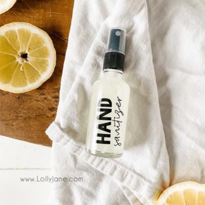 DIY: Natural Hand Sanitizer Spray Recipe