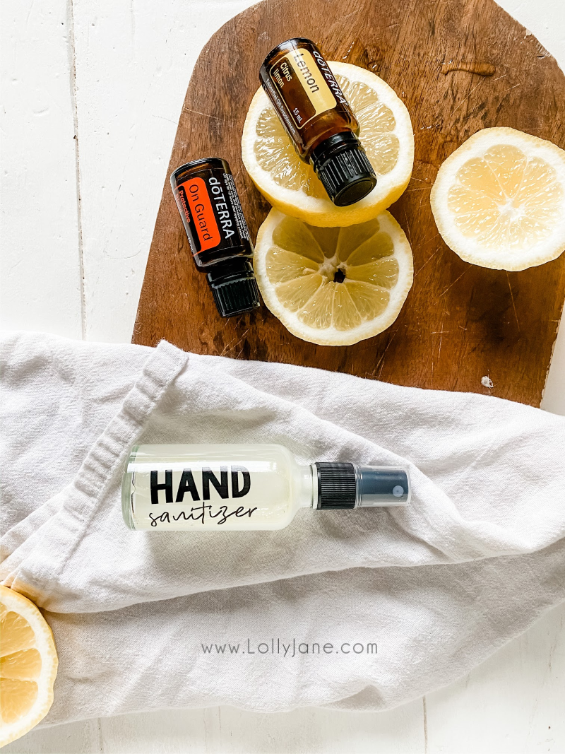 Easy hand sanitizer spray using doTerra essential oils. Power antiseptic in a natural non toxic way! Bonus: smells good! #naturalhandsanitizer #easyhandsanitizerrecipe #howtomakehandsanitizer #handsanitizerrecipe #handsanitizerspray