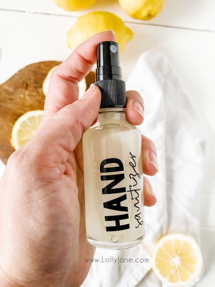 Make this easy hand sanitizing spray with a few basic ingredients! Don't use store bought hand sanitizer, it's full of toxins, make this all natural effective hand sanitzer! #easyhandsanitizerrecipe #handsanitizerrecipe #handsanitizer #howtomakehandsanitizer #howtomakehandsanitizerspray