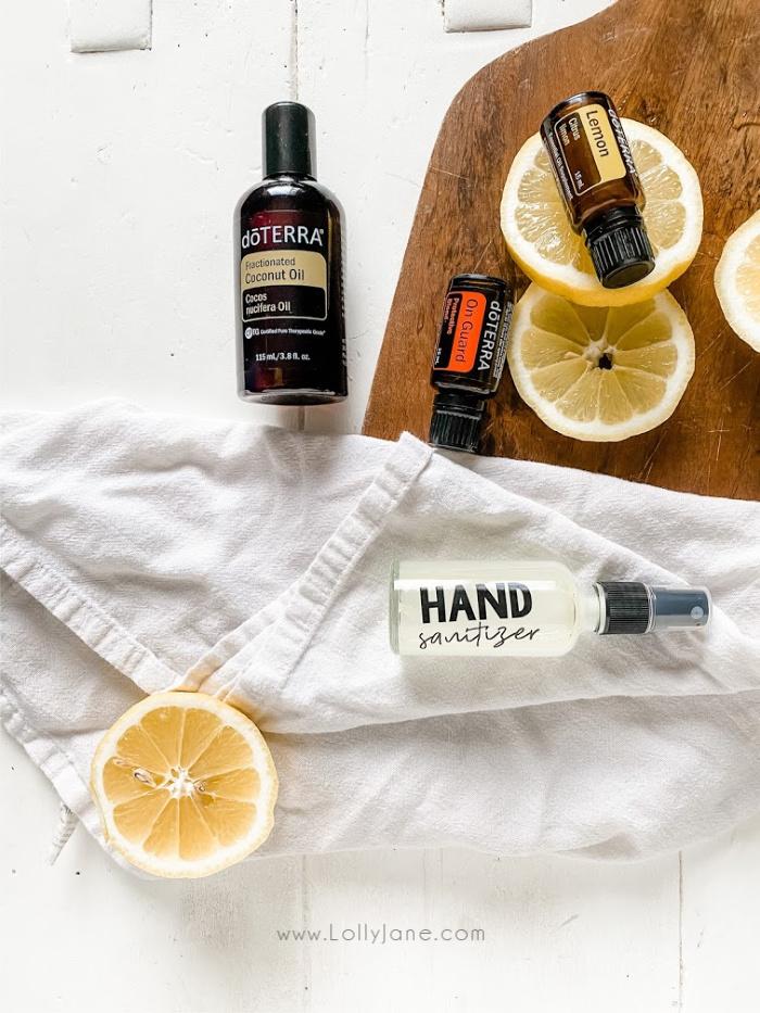 How to make hand sanitizer spray, so easy!! All natural, non toxic hand sanitizer spray, smells so good! #essentialoils #naturalhandsanitizer #howtomakesanitizerspray #sanitizingspray #doterrasanitizingspray