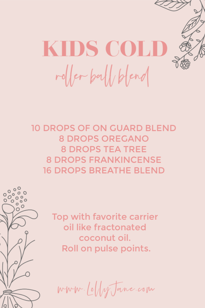 Save this kids cold rollerball blend for when your kids get the seasonal cold. Mix these super oils for a powerful blend meant to help them ward off seasonal germs. #essentialoilsforkids #kidsseasonalblend #coldcoughblend #kidscoldblend #kidsessentialoilcoughrollerballrecipe #coldcoughrollerballblend