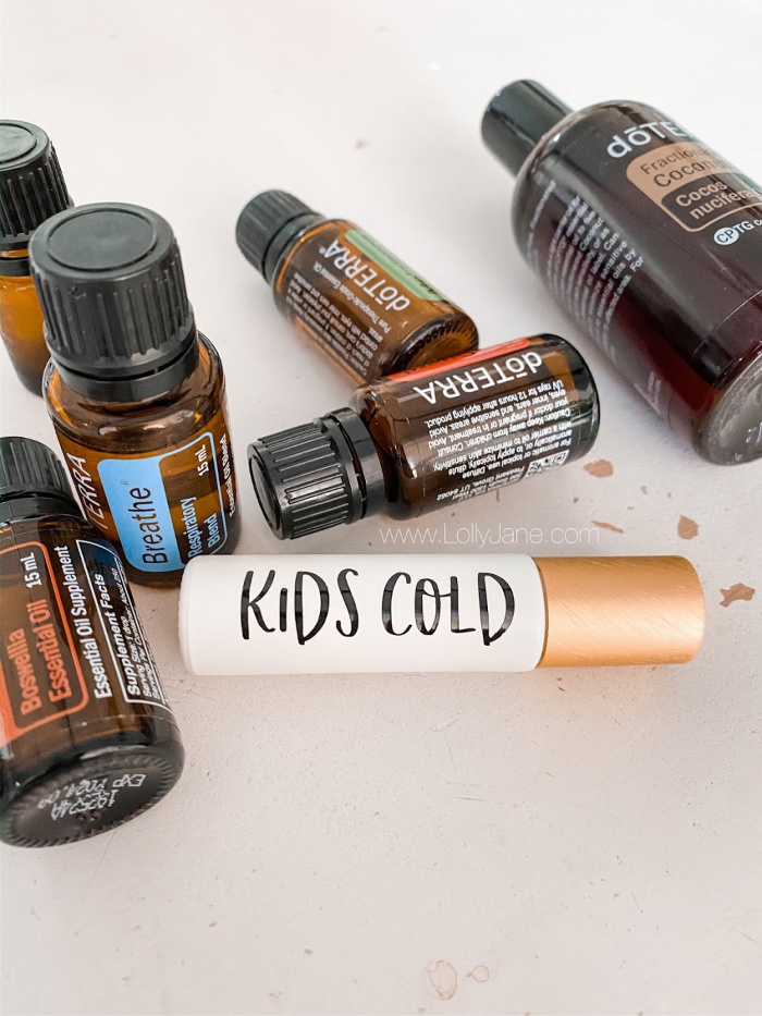 There's so much junk going around right now with the spring season, get a jump on it with this super cold and cough blend for kids with our favorite power oils! #kidscoldblend #kidsessentialoil #kidscoughessentialoilblend #kidscoughrollerballblend #doterrarollerballkidscough