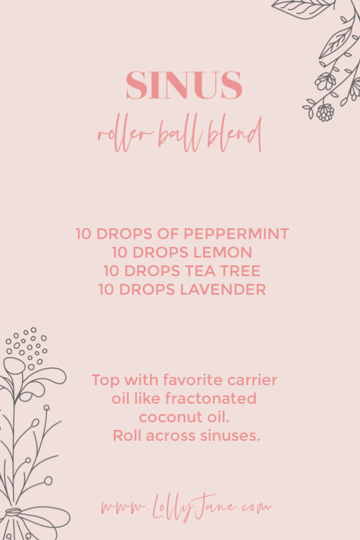 Save this recipe for when your sinuses are bugging you! With the seasonal changes, your sinuses can take a hit from all the blooming plants and flowers. Fight nature with nature and whip up our sinus roller ball blend recipe then roll it across your sinuses for instant relief! #sinusrollerball #sinusblend #essentialoils #naturalcare #sinusrelief #howtorelievesinuspressure #howtorelievesinuspressurenaturally