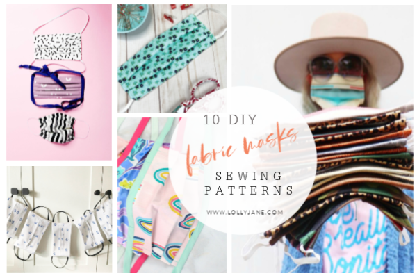 10 DIY fabric mask sewing patterns. Whether you need surgical masks or handmade medical masks, woodworking masks or masks to use while working outdoors, these different fabric masks are easy to follow and practical, too! #diyfabricmasks #howtosewfabricmasks #diysewnmasks #easytosewmasks