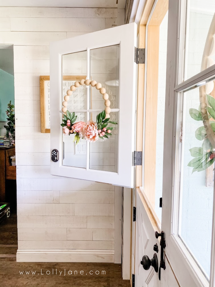 The cutest dutch doors! Love the farmhouse style trim, too! #dutchdoors #farmhousedutchdoors #whitedutchdoors #customdutchdoors