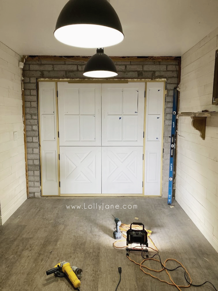 Replacing our old doors with new ones. Check out our double dutch doors installation process to see if these doors would be right for your home! #dutchdoors #doubledutchdoors #frenchdutchdoors #howtoinstalldutchdoors #bluedutchdoors #farmhousedutchdoors